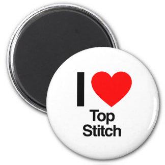 i love top stitch fridge magnets