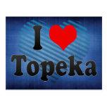 I Love Topeka, United States Postcards