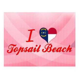 I Love Topsail Beach, North Carolina Post Cards
