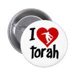 I Love Torah Pinback Buttons