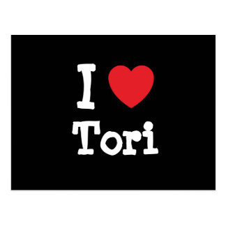 I love Tori heart T-Shirt Post Card