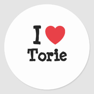 I love Torie heart T-Shirt Stickers