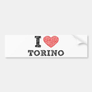 I Love Torino Car Bumper Sticker