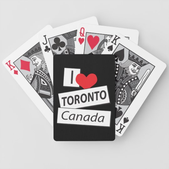 I Love Toronto Canada Bicycle Playing Cards