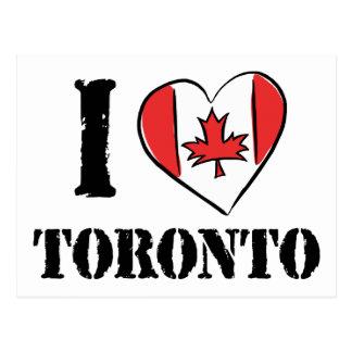 I Love Toronto Canada Postcard