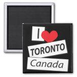 I Love Toronto Canada Refrigerator Magnet