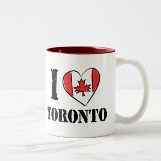 I Love Toronto Canada Two-Tone Coffee Mug