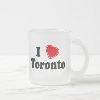 I Love Toronto Frosted Glass Coffee Mug