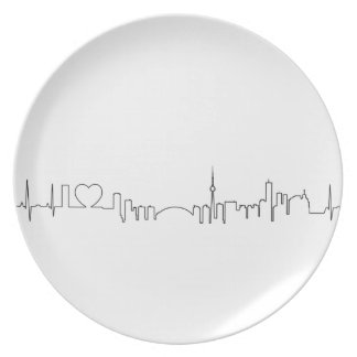 I love Toronto in an extraordinary ecg style Dinner Plates