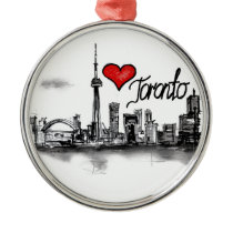I love Toronto Metal Ornament