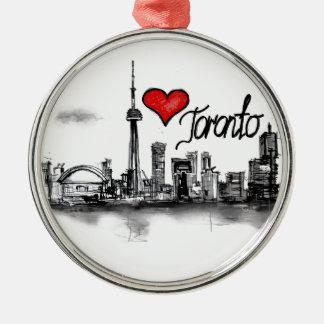 I love Toronto Metal Ornament