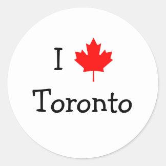 I Love Toronto Round Sticker
