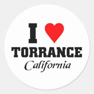 I love Torrance, California Classic Round Sticker