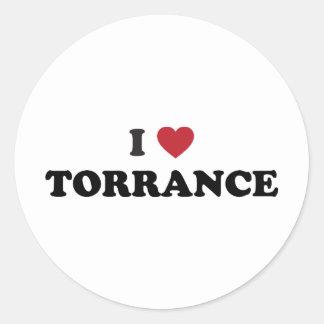 I Love Torrance California Classic Round Sticker
