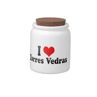 I Love Torres Vedras, Portugal Candy Jar