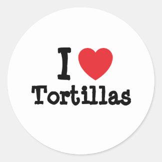 I love Tortillas heart T-Shirt Sticker