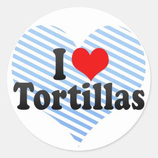 I Love Tortillas Round Sticker