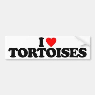 I LOVE TORTOISES BUMPER STICKER