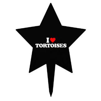 I LOVE TORTOISES CAKE TOPPERS