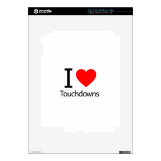 I Love Touchdowns Decals For The iPad 2