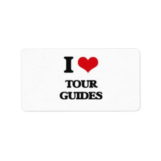I love Tour Guides Labels