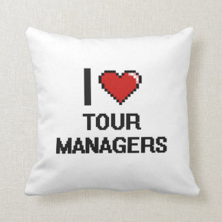 I love Tour Managers Throw Pillow