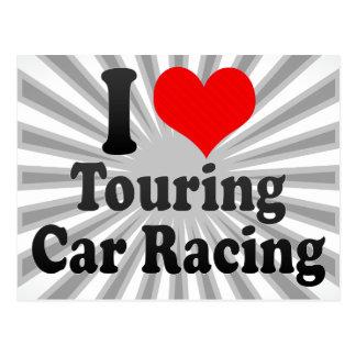 I love Touring Car Racing Post Card