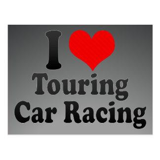 I love Touring Car Racing Postcard