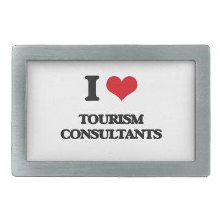 I love Tourism Consultants Rectangular Belt Buckle