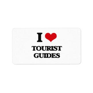 I love Tourist Guides Labels