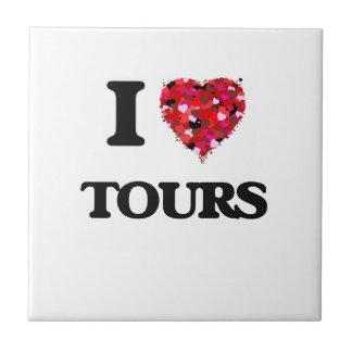 I love Tours Small Square Tile