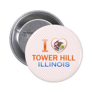 I Love Tower Hill, IL 2 Inch Round Button
