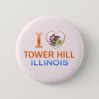 I Love Tower Hill, IL Pinback Button