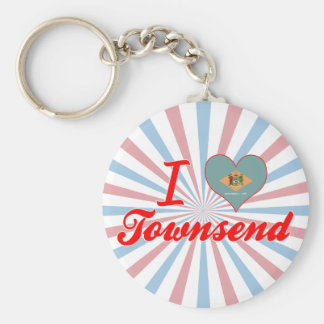 I Love Townsend, Delaware Keychain