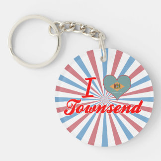 I Love Townsend, Delaware Acrylic Keychain