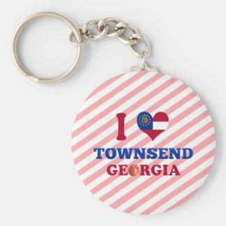 I Love Townsend, Georgia Key Chains