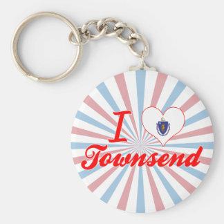 I Love Townsend, Massachusetts Key Chain