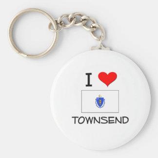 I Love Townsend Massachusetts Keychains