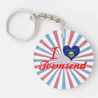 I Love Townsend, Montana Keychain