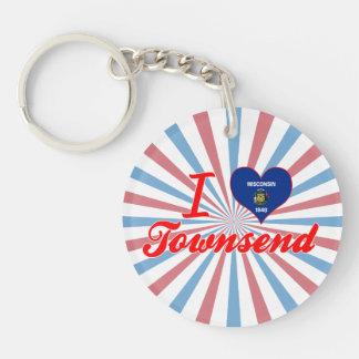 I Love Townsend, Wisconsin Keychain