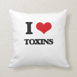 I love Toxins Throw Pillow