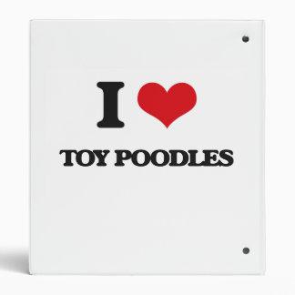 I love Toy Poodles 3 Ring Binders