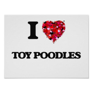 I love Toy Poodles Poster