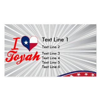 I Love Toyah, Texas Business Card