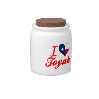 I Love Toyah, Texas Candy Dishes