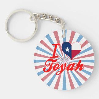 I Love Toyah, Texas Keychain