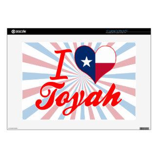 I Love Toyah, Texas Laptop Decals