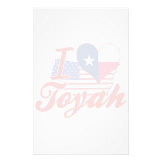 I Love Toyah, Texas Stationery Paper