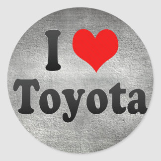 I Love Toyota, Japan. Aisuru Toyota, Japan Classic Round Sticker