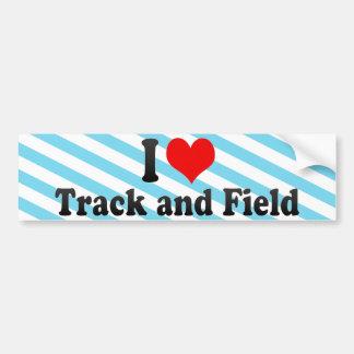 I Love Track and Field Bumper Sticker